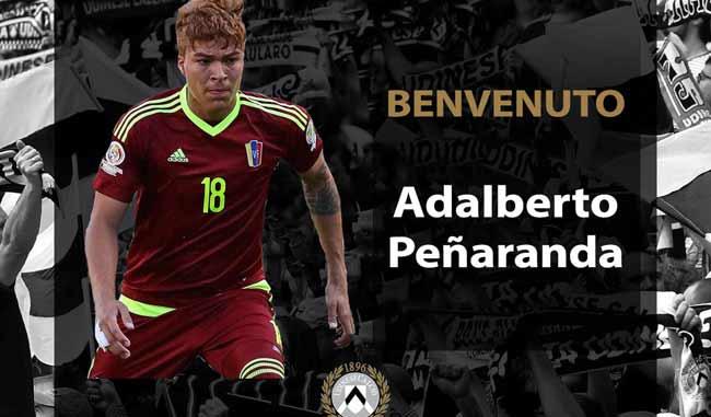 El Udinese hace oficial la cesión de la joya venezolana Peñaranda