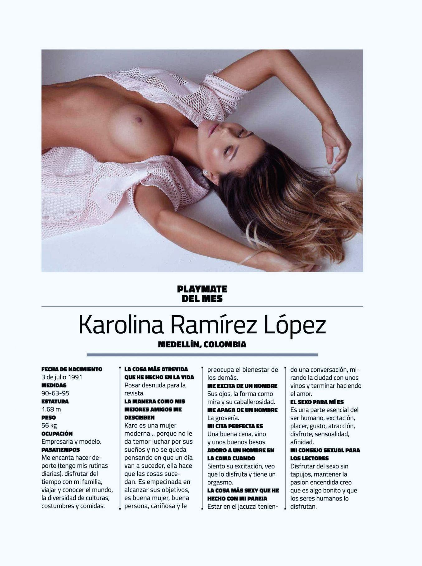 """FOTOS: Karolina Ramírez, elegida como la más """"sexy"""" de Instagram, se desnudó en Playboy Mexico 1"""
