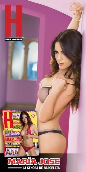 María José Suárez se quitó la ropa en las páginas de H para Hombres ... a61942cdc212