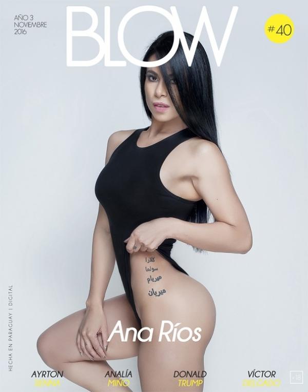 La sensual Paraguaya Ana Ríos (@ANA_RIOSPY) se quita la ropa en la REVISTA BLOW (@BLOWpy) (+Fotos)