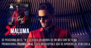 Maluma sigue cosechando éxitos a nivel nacional e internacional