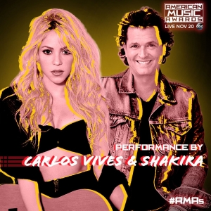 Carlos Vives y Shakira actuarán en los American Music Awards