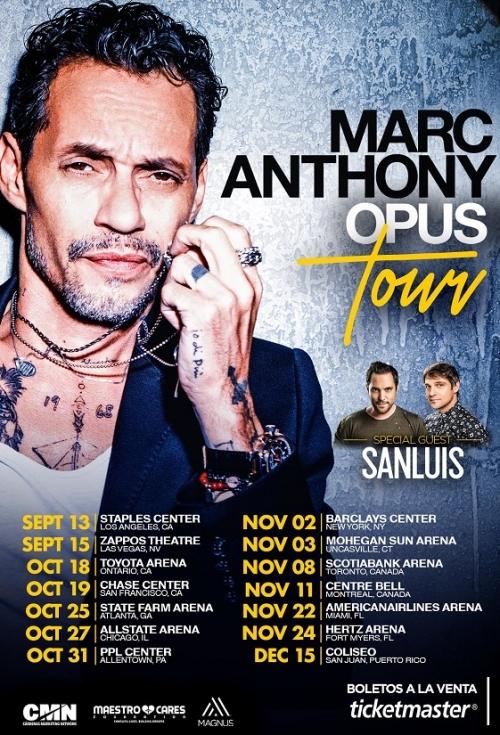 SanLuis se va de gira con Marc Anthony. Noticias en tiempo real