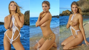 El triple topless de Kate Upton en la portada de Sports Illustrated (+Fotos)